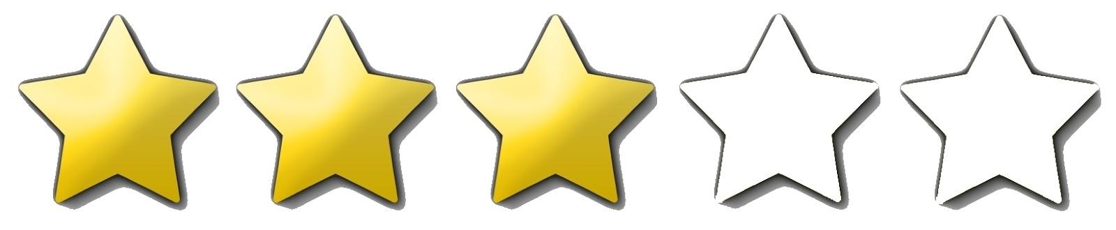 Risultati immagini per rating 3 stars